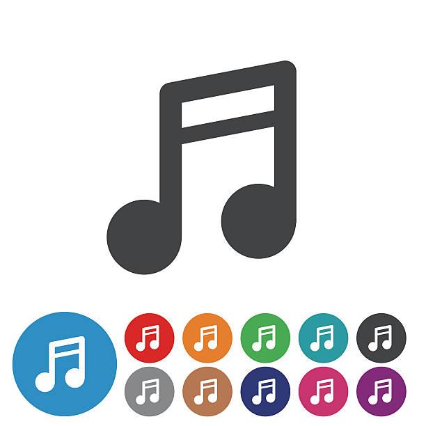 music note icons - graphic icon series - musiksymbole stock-grafiken, -clipart, -cartoons und -symbole