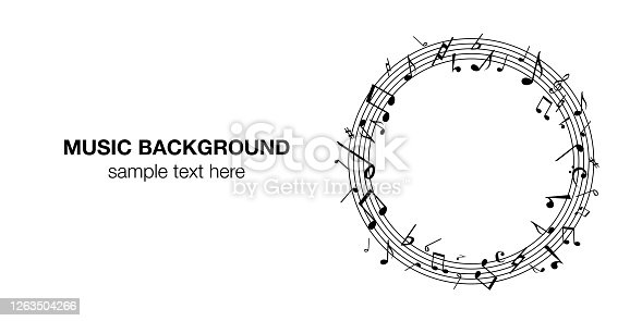 Music note music music background vector illustration black and white abstract