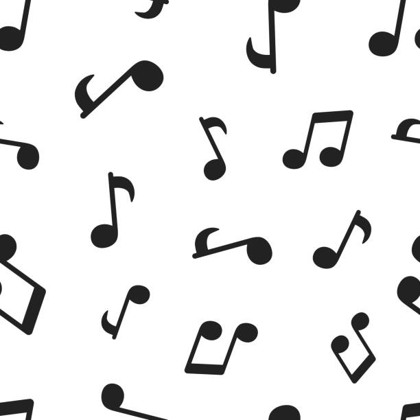 music note seamless pattern background. business concept vector illustration. sound note symbol pattern. - nuta stock illustrations