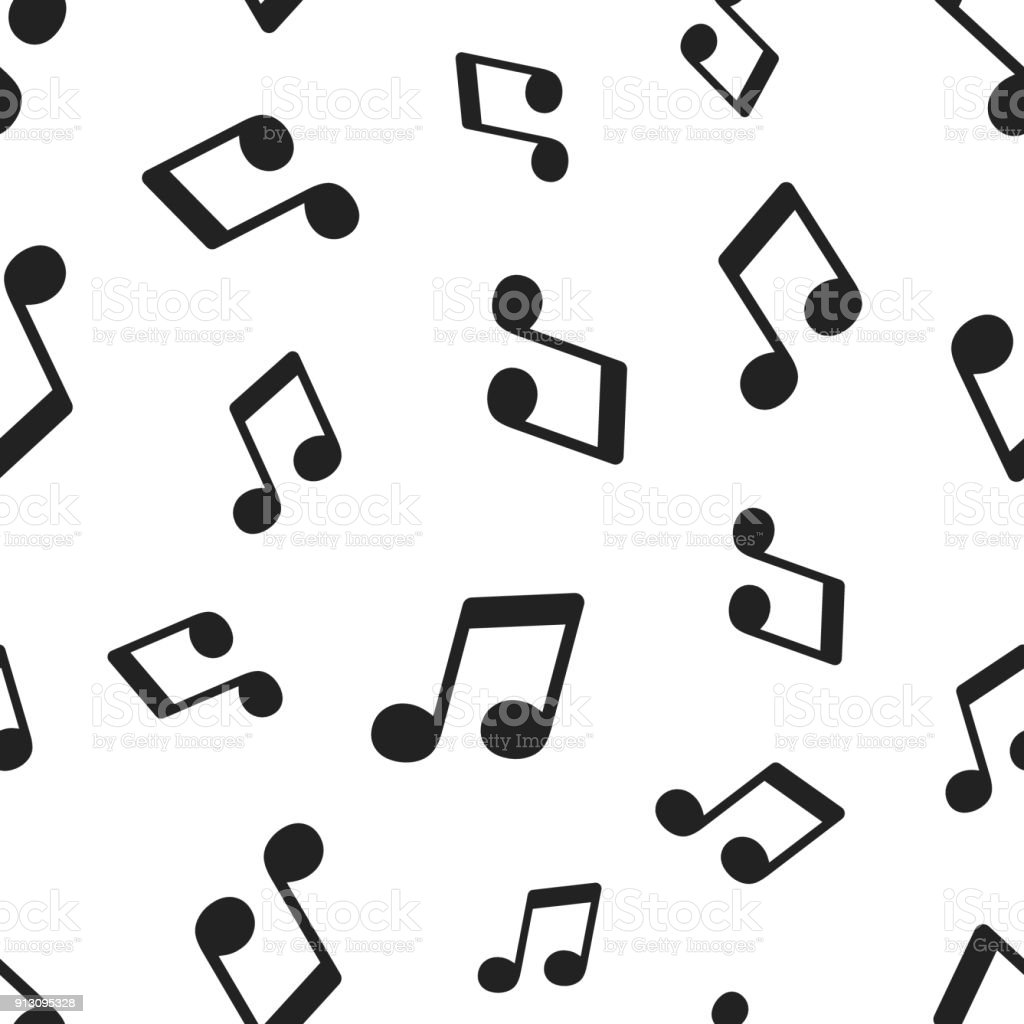 Music Note Seamless Pattern Background Business Concept Vector