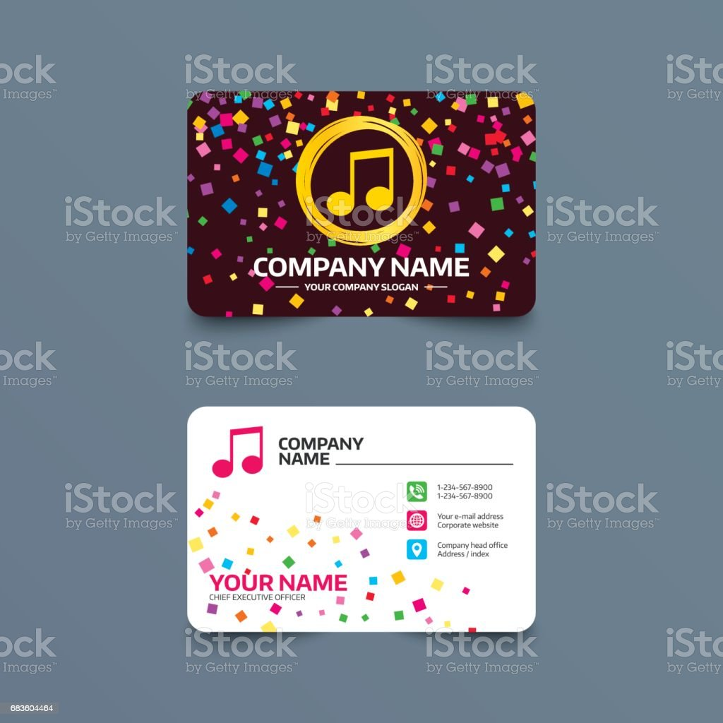Music Note Sign Icon Musical Symbol Stock Illustration