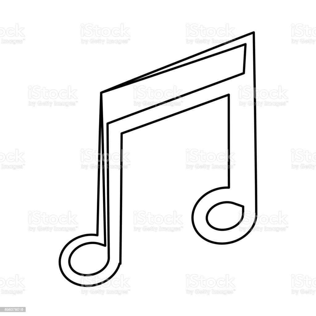 Music Note Symbol Stock Vector Art More Images Of Artist 898378016