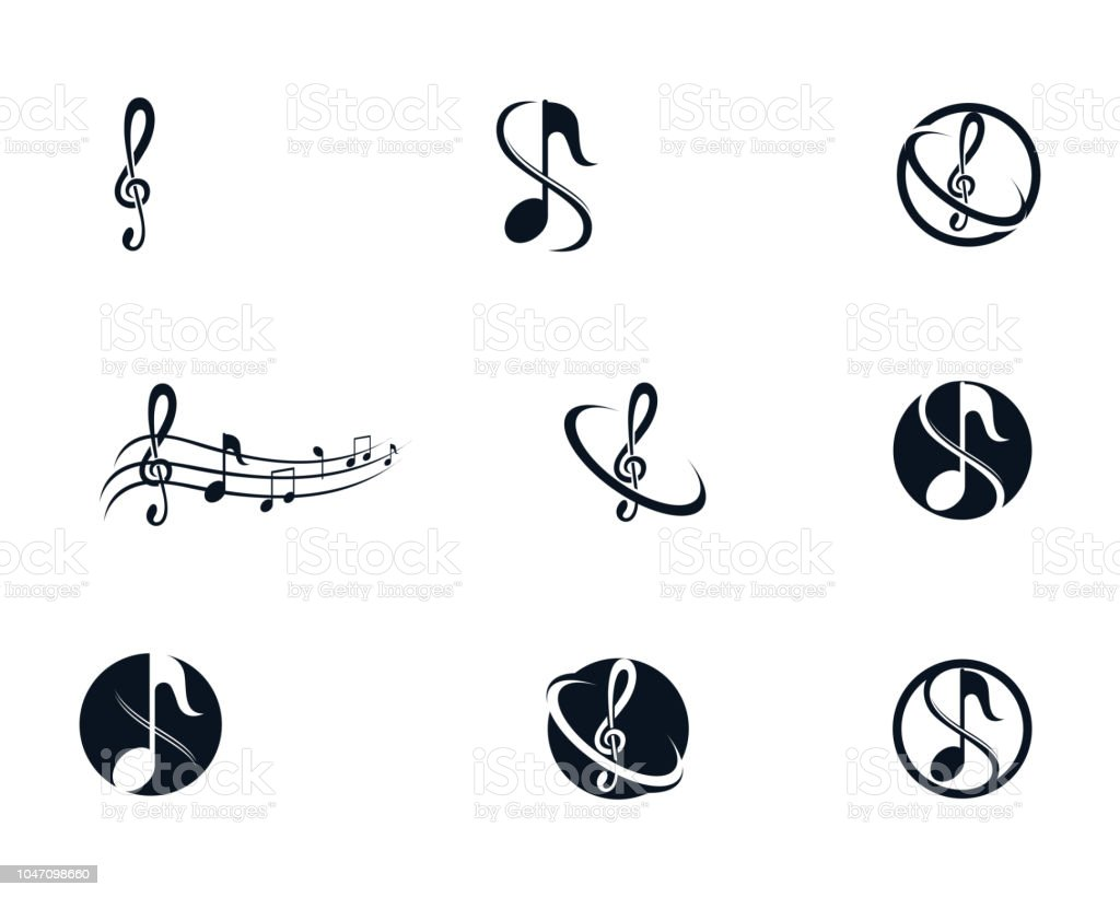 Music Note Symbols Logo And Icons Template Stock Vector Art More