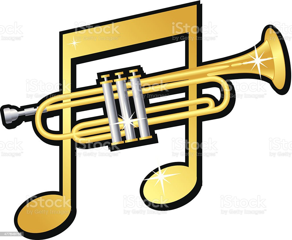 Music Note Trumpet royalty-free music note trumpet stock vector art & more images of brass instrument