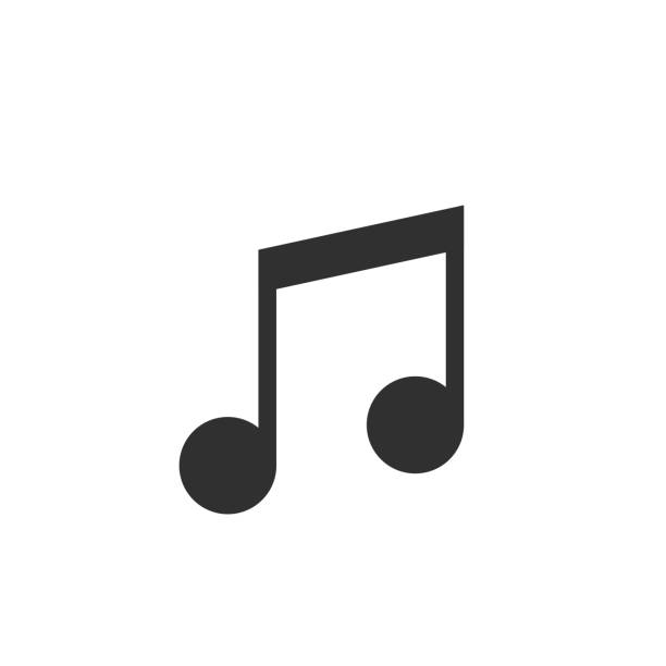 Music note vector icon Music note icon. Sound and melody sign, Vector illustration lyric stock illustrations