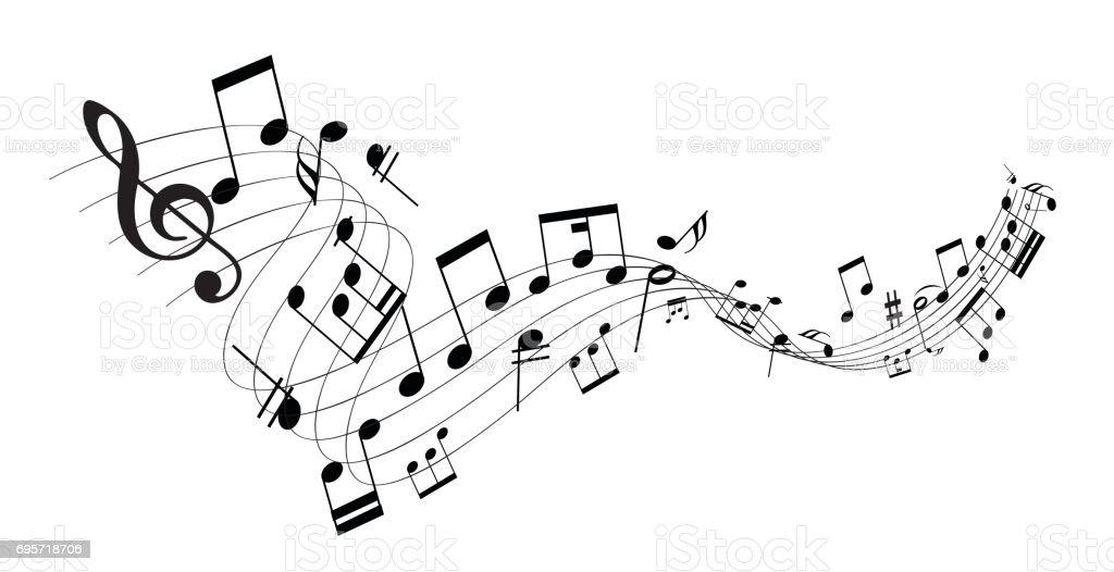 Music Note - Grafika wektorowa royalty-free (Akord)