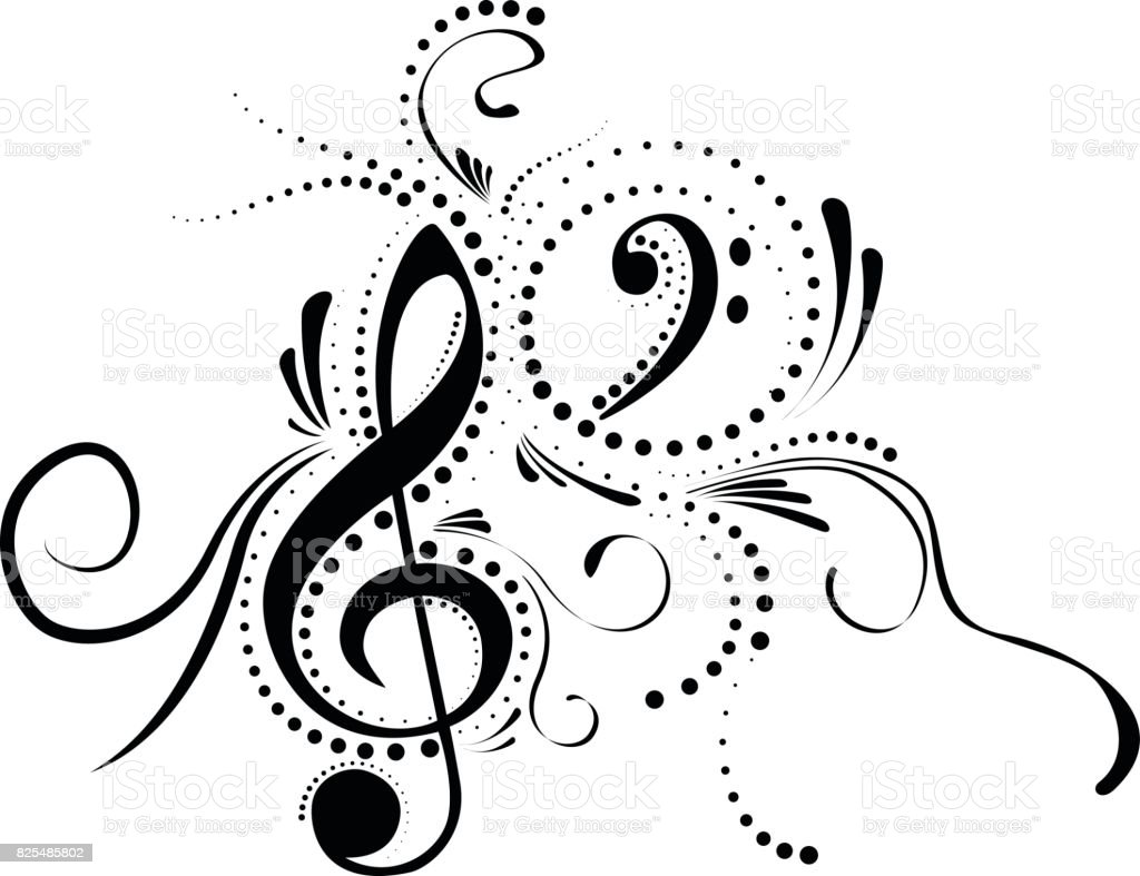 Music Note vector art illustration