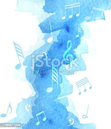 watercolor musical concert painted image
