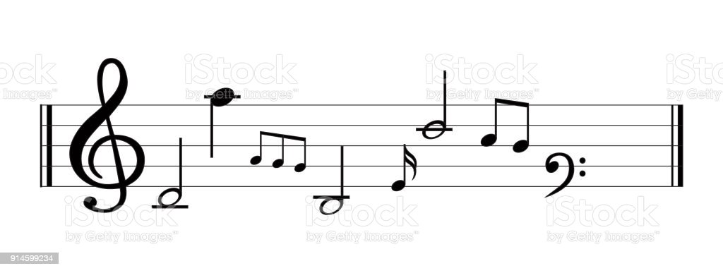 Music Note With Music Symbols Stock Vector Art More Images Of