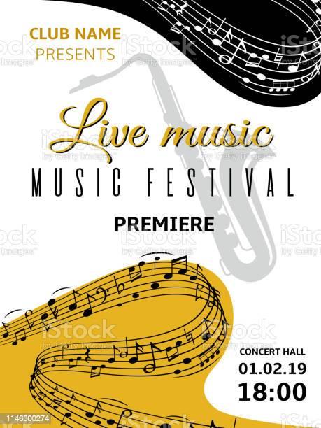 Fond De Notes De Musique Abstrait Tourbillon Vague Musique Note Clé De Sol Harmonie Stave Musique Classique Festival Choeur Jazz Vecteur Affiche Vecteurs libres de droits et plus d'images vectorielles de Abstrait