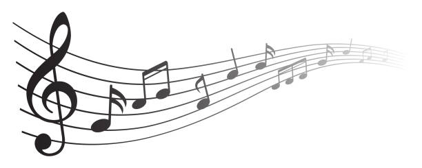 music notes background, musical notes – for stock - waltornista stock illustrations