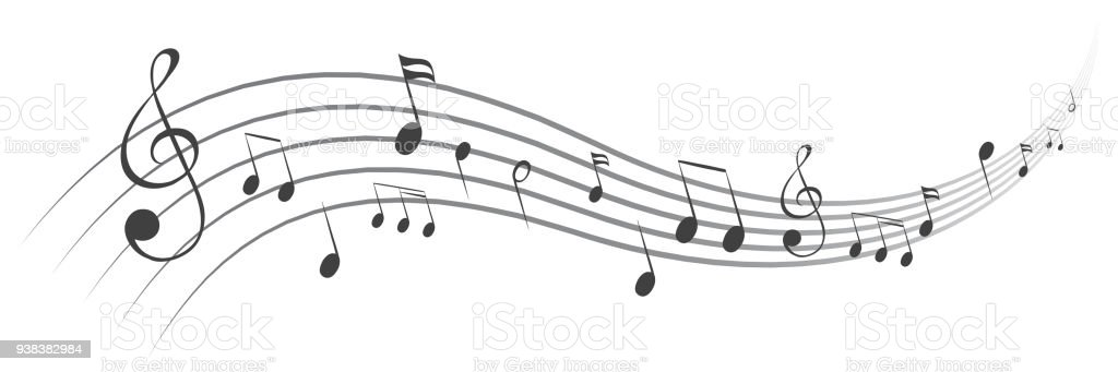 Music notes background, musical notes – stock vector - Grafika wektorowa royalty-free (Chór)