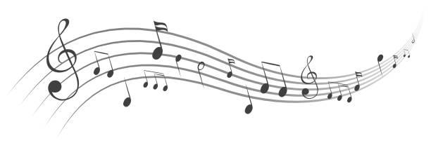 nuty tła, nuty – wektor akcji - muzyka stock illustrations