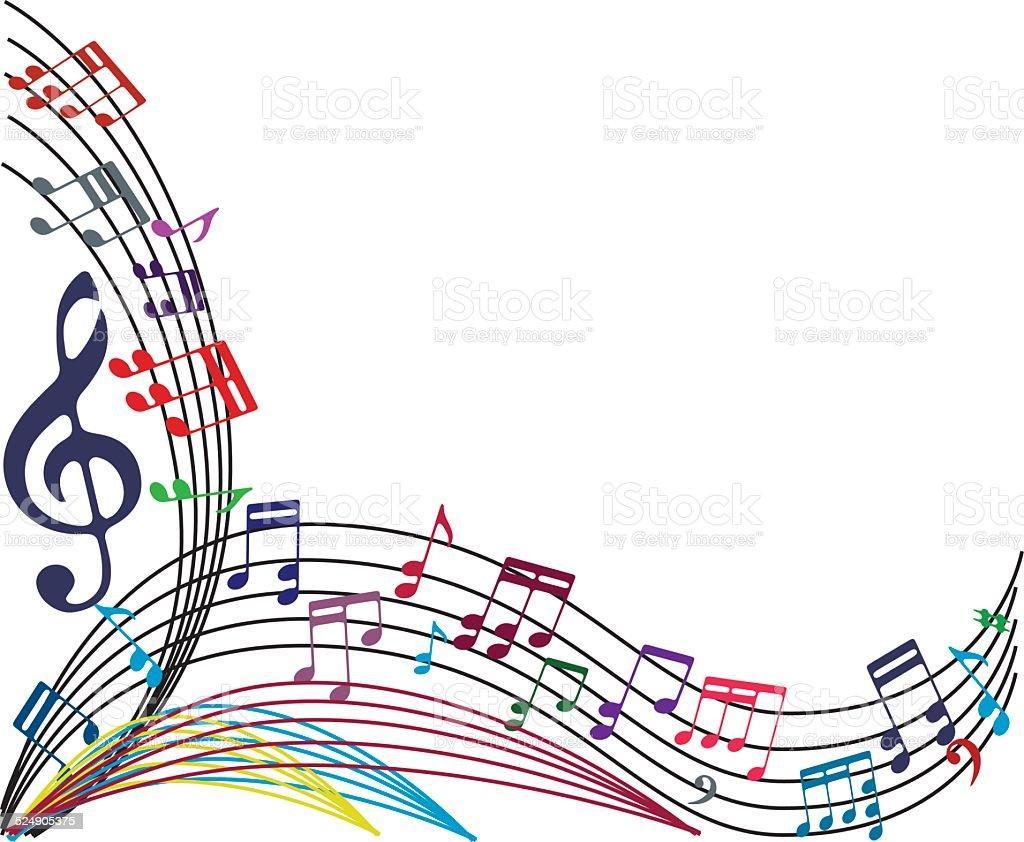 Ilustraci n de fondo de notas de m sica elegante estilo de Notas de espectaculos mas recientes