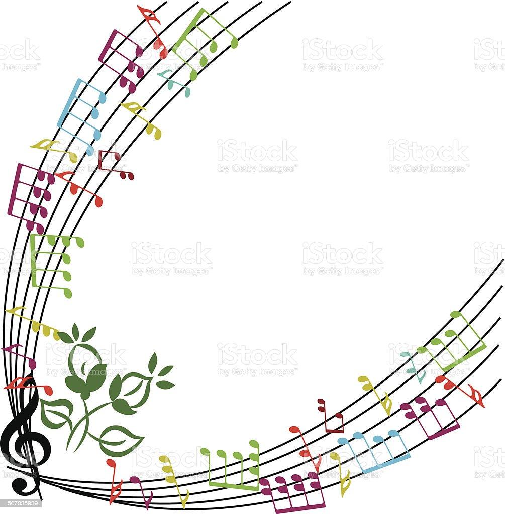Ilustración de Notas De Música De Fondo Música Temática Elegante ...