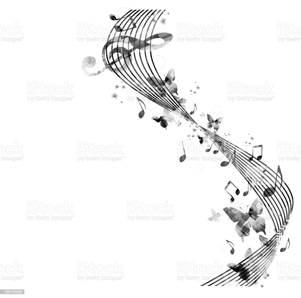 Music Note Abstract Wallpaper
