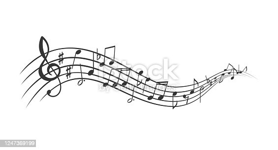 istock Music notes banner 1247369199