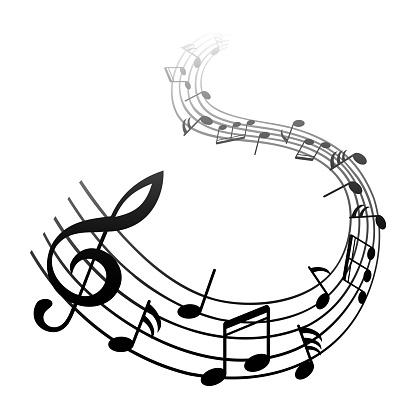 Music Notes Black Group Musical Notes Vector For Stock - Stockowe grafiki wektorowe i więcej obrazów Chór