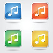 Music Notes Colorful Vector Icon Design