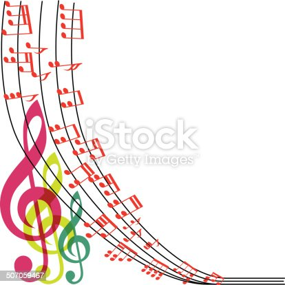 Music notes composition musical theme background vector for The craft of musical composition