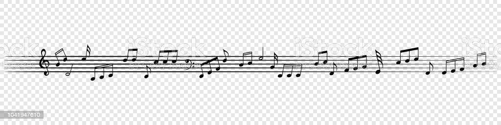 Musik Nimmt Dekorativen Hintergrund Melodie Achtelnote Vektor