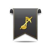 Music Notes golden Vector Icon Design