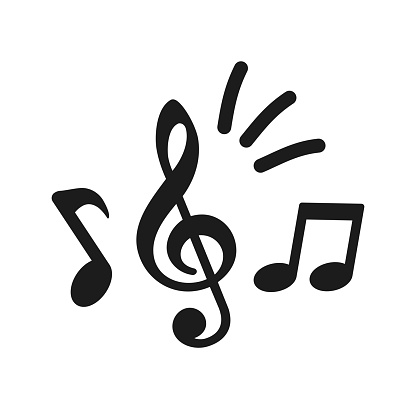 Music notes icon, group musical notes signs – stock vector