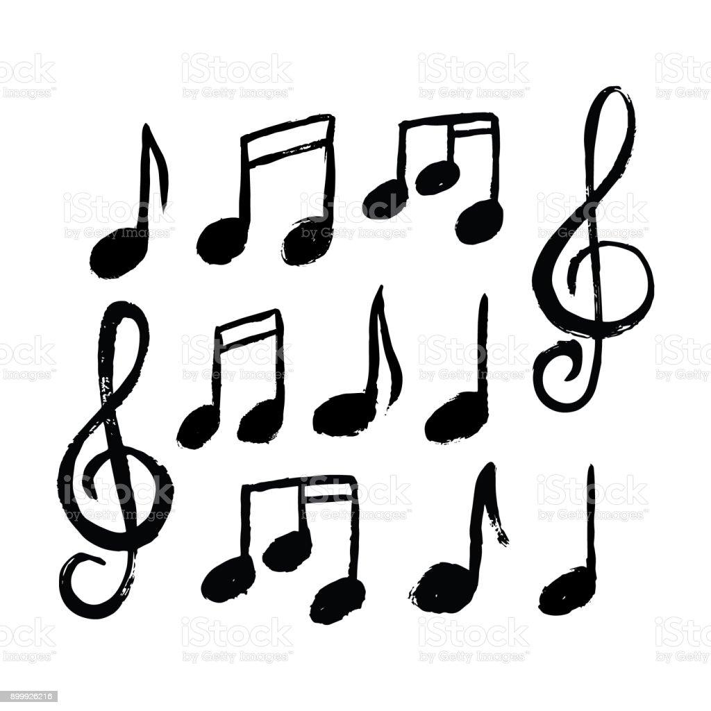 Music notes icon set - Grafika wektorowa royalty-free (Abstrakcja)