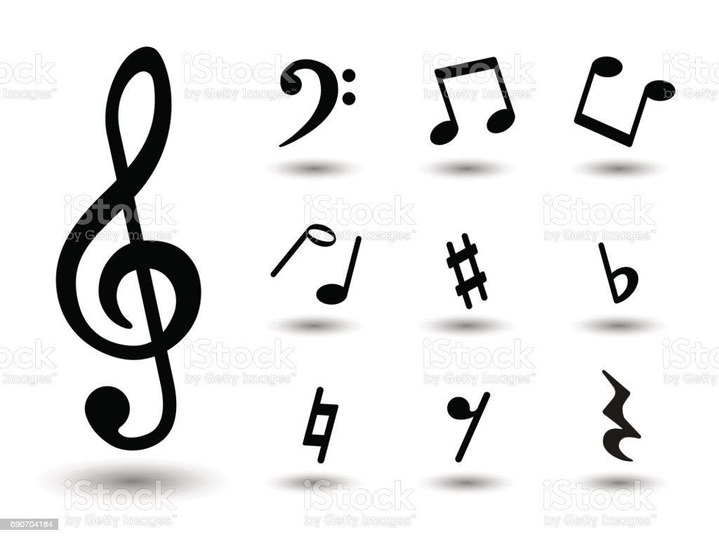 Music notes icons stock vector art more images of abstract music notes icons royalty free music notes icons stock vector art amp more images buycottarizona