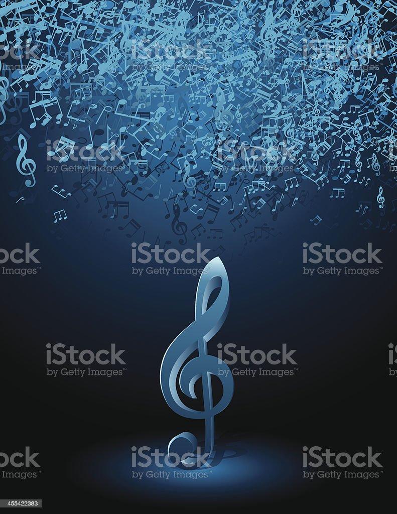 Music Notes on Spot Light royalty-free stock vector art