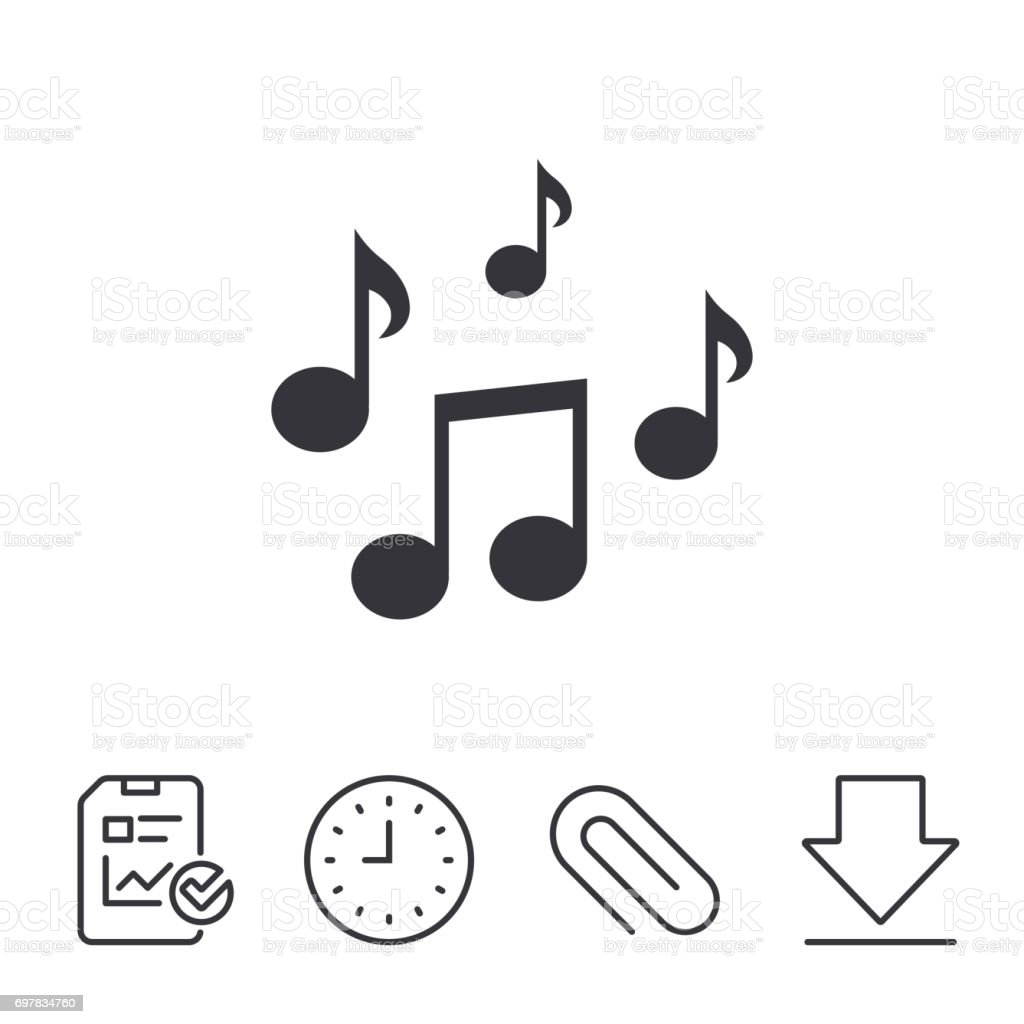 Music Notes Sign Icon Musical Symbol Stock Vector Art More Images