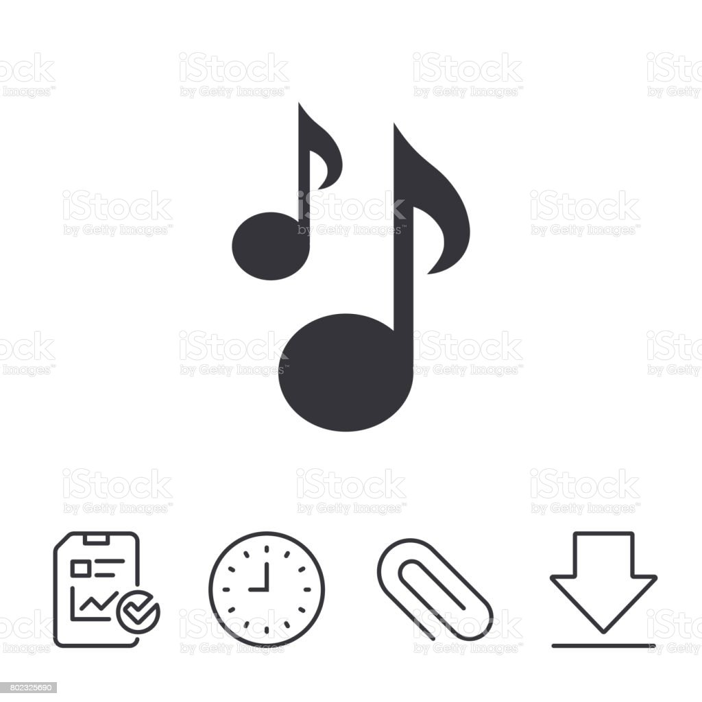 Music notes sign icon musical symbol stock vector art more music notes sign icon musical symbol royalty free music notes sign icon musical biocorpaavc