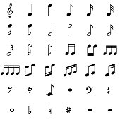 Sheet Music, Piano Key, Symbol, Sign