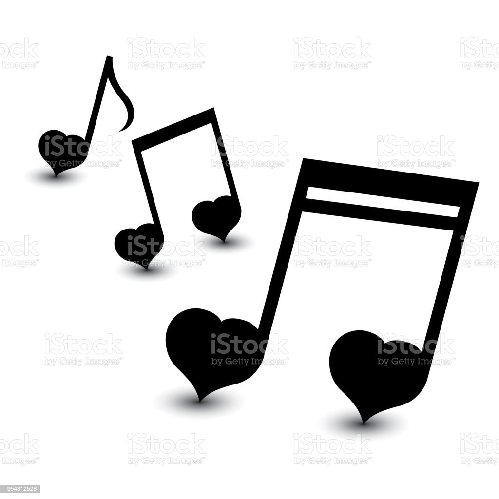 Music Notes Symbols Set Stock Vector Art More Images Of Abstract