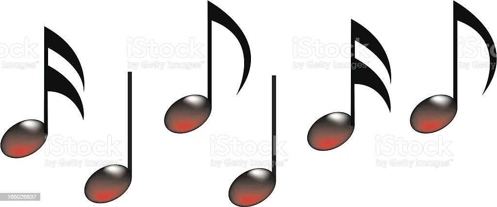 music notes royalty-free stock vector art
