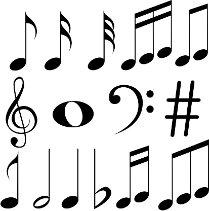 Muzyka Notatki Stockowe Grafiki Wektorowe I Więcej Obrazów