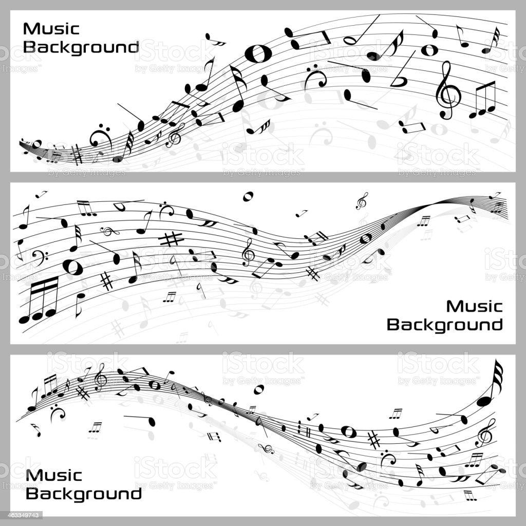 Music Notes vector art illustration