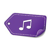 Music Notes Violet Vector Icon Design