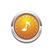 Music Notes Yellow Vector Icon Button