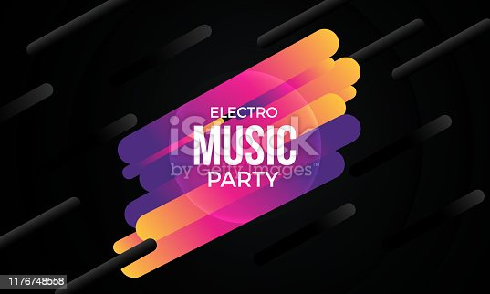 Music Party Background With Geometric Shapes
