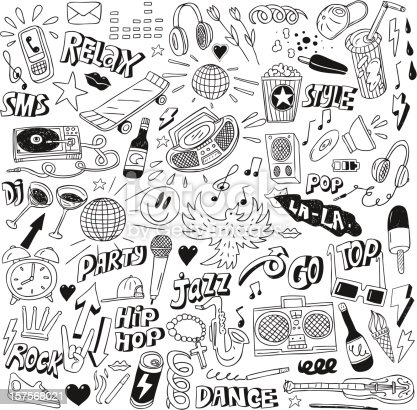 Music party - doodles collection
