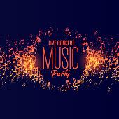 music party live concert background design