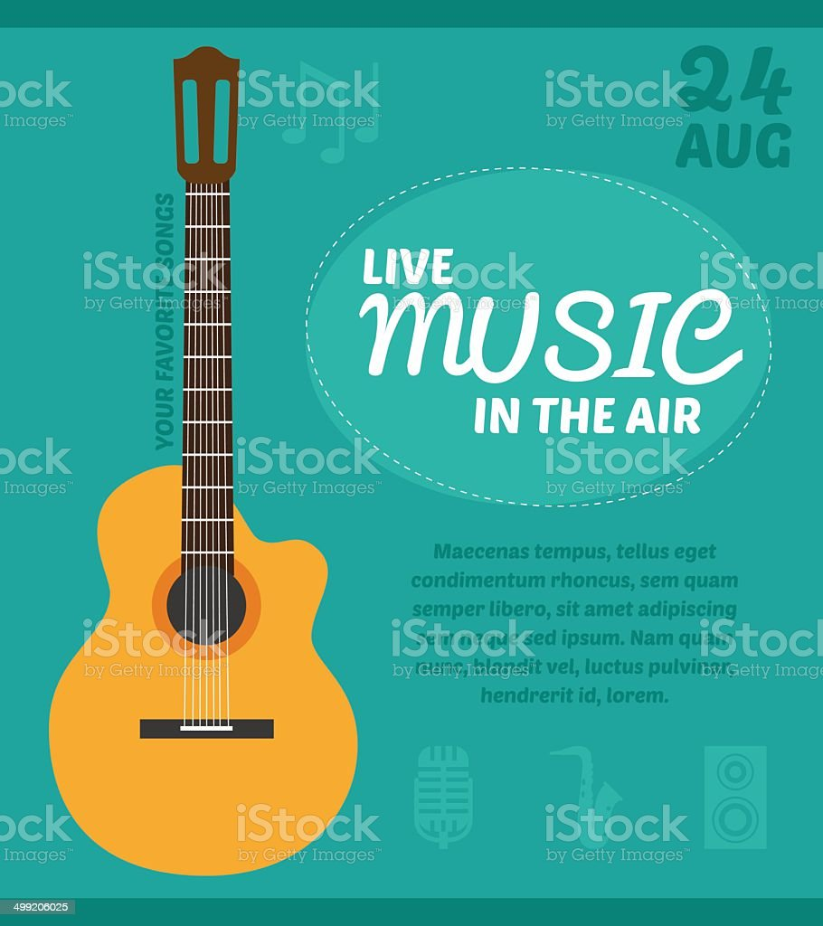 Music party poster vector art illustration