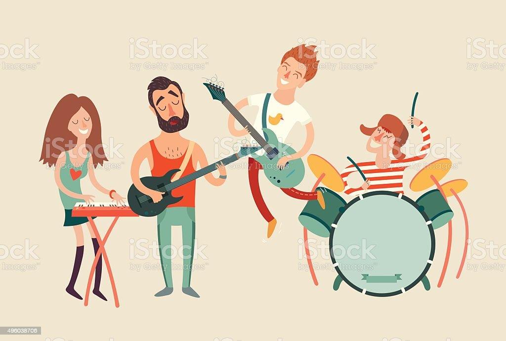 Music party poster, vector illustration vector art illustration