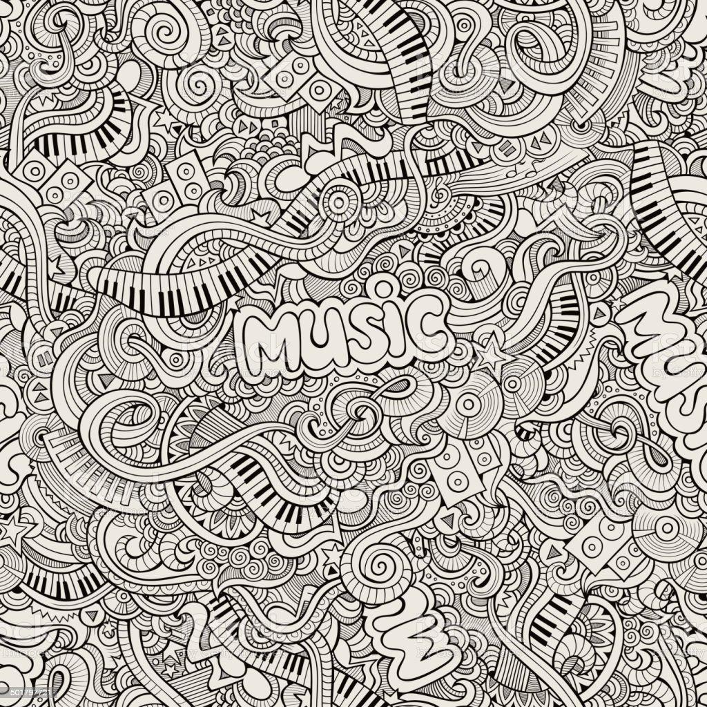 Music pattern vector art illustration