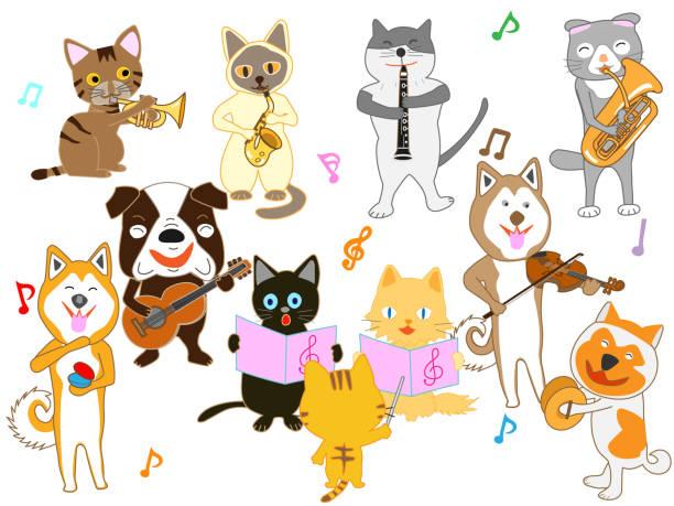 stockillustraties, clipart, cartoons en iconen met muziek huisdier - castagnetten