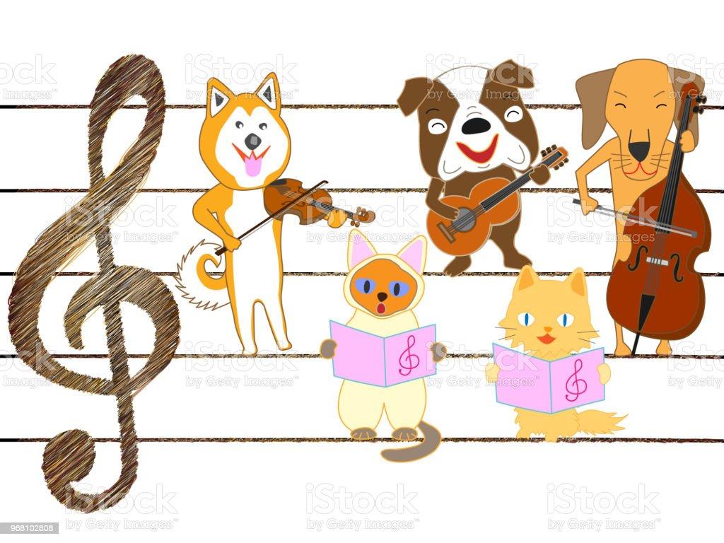 Animal De Compagnie De Musique Vecteurs libres de droits et plus d'images  vectorielles de Amitié - iStock