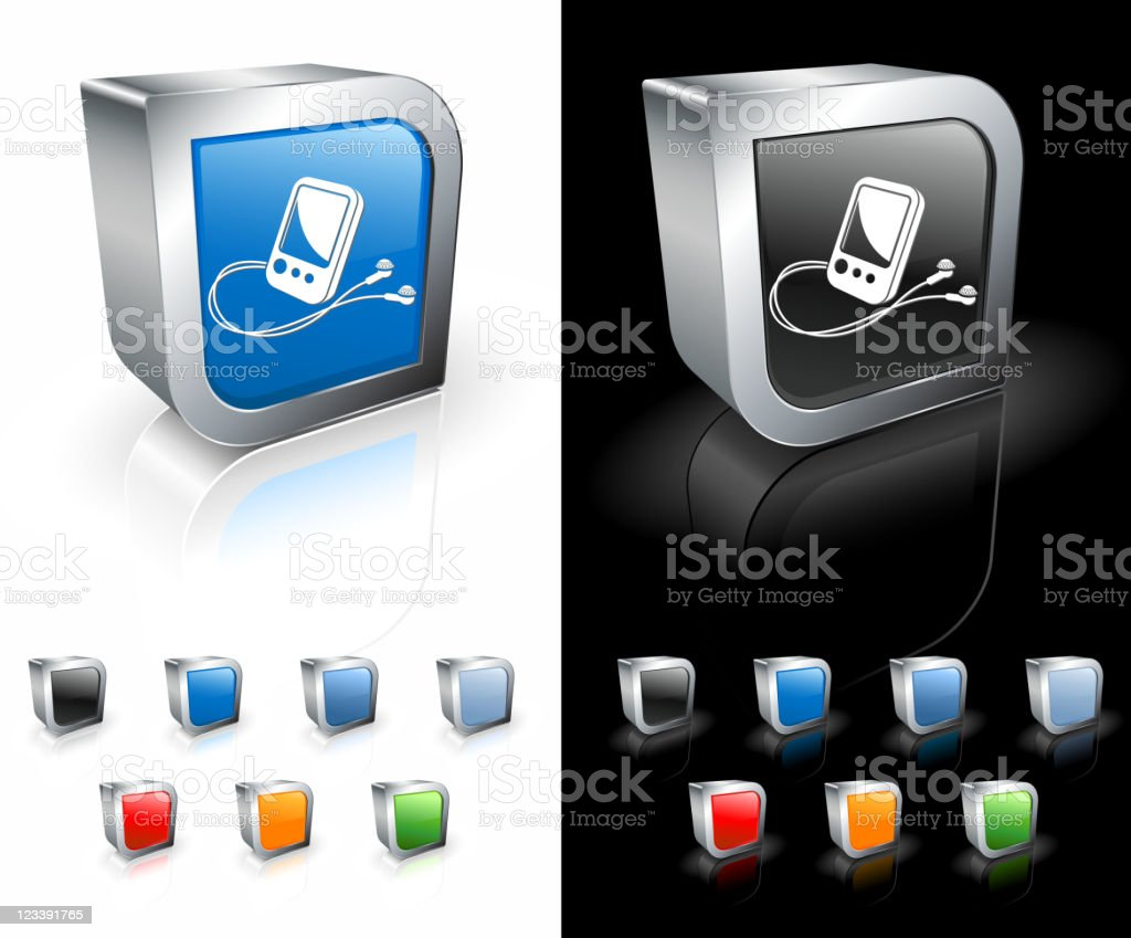 Mp3 Music Player 3d Royalty Free Vector Art Stock Vector Art
