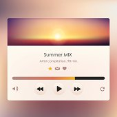 music player design vector for web applications