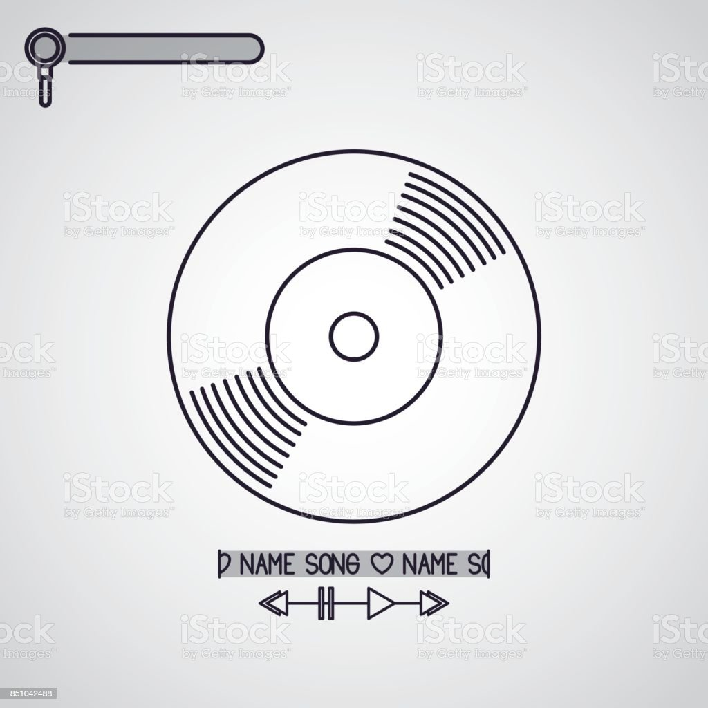 music player design vector art illustration